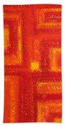 Navajo Rug Original Painting Beach Towel