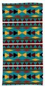 Navajo Teal Pattern Beach Towel