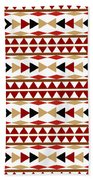Navajo White Pattern Beach Towel