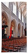 Nave Of The Church Of Our Lady Beach Towel