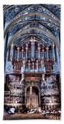 Nave Organ And Paintings Of Saint Cecile Beach Towel