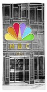 Nbc Facade Selective Coloring Beach Towel