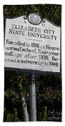 Nc-a37 Elizabeth City State University Beach Towel