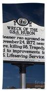 Nc-b31 Wreck Of The U.s.s. Huron Beach Towel