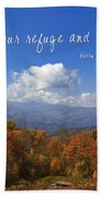 Nc Mountains With Scripture Beach Towel