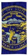 Nebraska Flag Beach Towel by World Art Prints And Designs