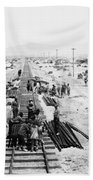 Nebraska Railroad Work Beach Towel