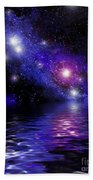 Nebula Reflection Beach Towel