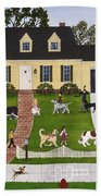 Neighborhood Dog Show Beach Towel