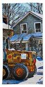 Neighbourhood Snowplough 2 Beach Towel
