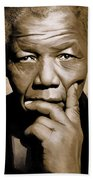 Nelson Mandela Artwork Beach Towel