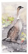 Nene -hawaiian Goose Beach Sheet