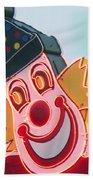 Neon Clown Beach Towel