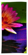 Neon Lily Beach Towel