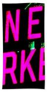 Neon New Yorker Beach Towel