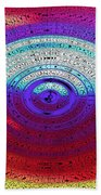 Neon Water Puddle Beach Towel
