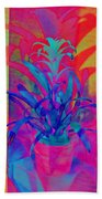 Neon Pineapple Plant - Vertical Beach Towel