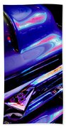Neon Reflections - Ford V8 Pickup Truck -1044c Beach Towel