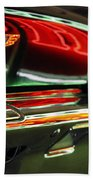 Neon Reflections Beach Towel