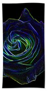 Neon Rose 5 Beach Towel