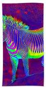 Neon Zebra Beach Towel
