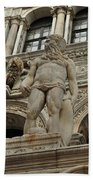 Neptune And The Lion Atop The Giants Staircase Beach Towel