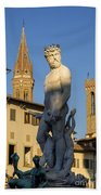 Neptune Statue - Florence Beach Towel