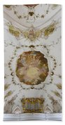 Nesselwang Church Ceiling And Organ Beach Towel