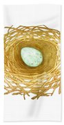 Nest And Egg Beach Towel
