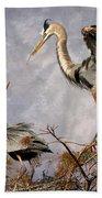 Nesting Time Beach Towel by Debra and Dave Vanderlaan