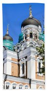 Nevsky Cathedral - Tallin Estonia Beach Towel