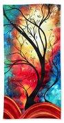 New Beginnings Original Art By Madart Beach Towel