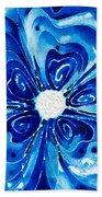 New Blue Glory Flower Art - Buy Prints Beach Towel