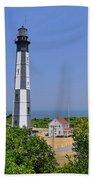 New Cape Henry Lighthouse Vertical Beach Towel