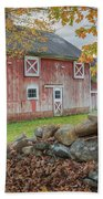 New England Barn Beach Towel by Bill Wakeley