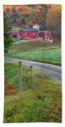 New England Farm Beach Towel by Bill Wakeley