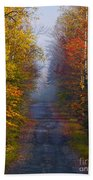 New Hampshire Back Road Beach Towel
