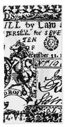 New Jersey Banknote, 1763 Beach Towel