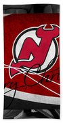 New Jersey Devils Christmas Beach Towel