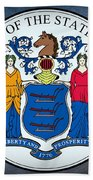 New Jersey State Seal Beach Towel