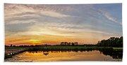 New Jersey Sunset Panoramic Beach Towel