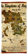 New Map Of The Kingdoms Of Magic Beach Towel