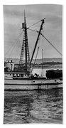 New Marretimo Purse Seiner Monterey Bay Circa 1947 Beach Towel