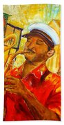 New Orleans Brass Band Beach Towel