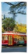 New Orleans - Canal St Streetcar 2 Beach Towel