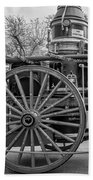New Orleans Fire Department 1896 Bw Beach Towel