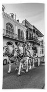 New Orleans Funeral Monochrome Beach Towel