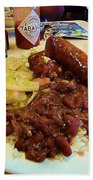New Orleans Red Beans And Rice Beach Towel