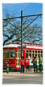 New Orleans Streetcar Beach Towel
