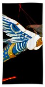 Iconic London Camden Puppets The Flying Princesses Beach Towel